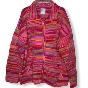 Bolivian Imports by Lucy Wool Zip Sweater Coat